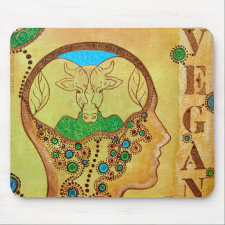 Vegan connection mouse pad