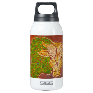 Vegan connection thermos water bottle