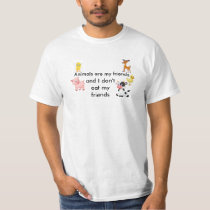 Vegan Cotton Shirt Animals are my friends