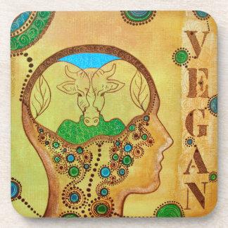 Vegan cow connection beverage coaster