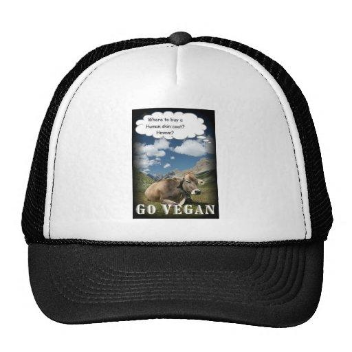 vegan cow trucker hat