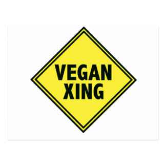 Vegan Crossing Postcard