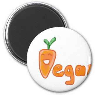 Vegan cute carrot comic Design Magnet