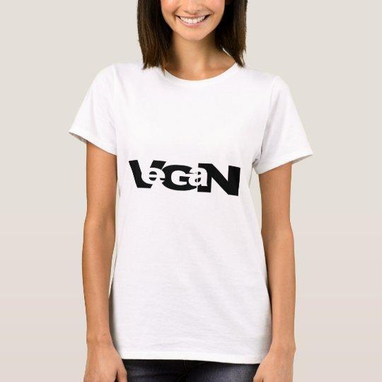 Vegan Cutout Design T-Shirt