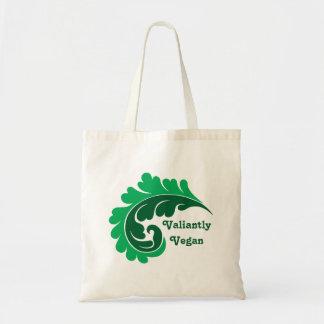 Vegan damask leaf tote bag