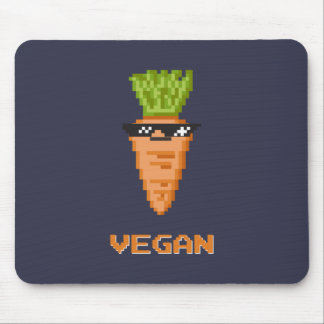 "Vegan ""Deal With It"" Carrot Mouse Pad"