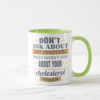 Vegan Don't Ask About My Protein Mug
