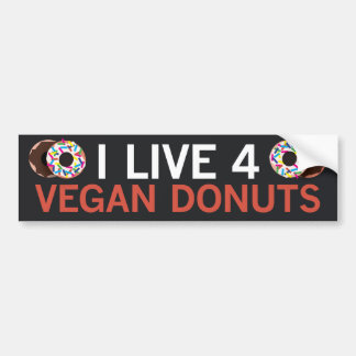 Vegan Donuts Bumper Sticker