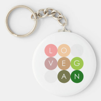 Vegan Dot Love Keychain