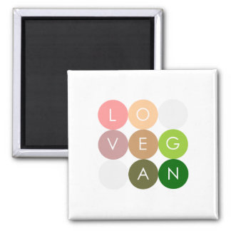 Vegan Dot Love Magnet