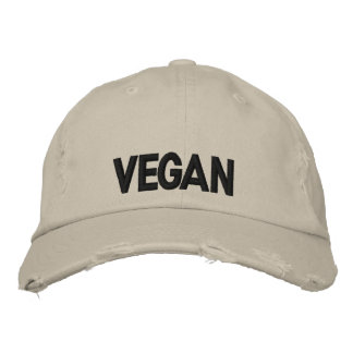 Vegan Embroidered Baseball Cap