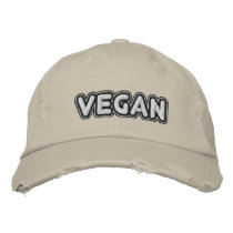 Vegan Embroidered Baseball Hat