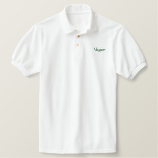 Vegan - Embroidered Polo