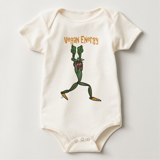 Vegan Energy Baby Bodysuit