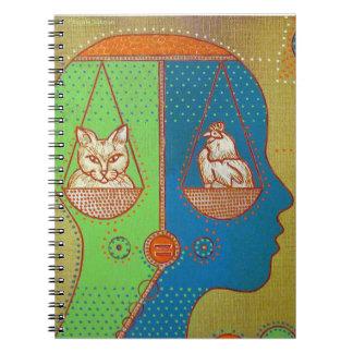 Vegan equality spiral notebook