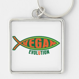 Vegan Evolution Keychain