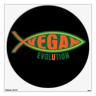 Vegan Evolution Wall Sticker