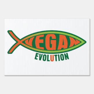 Vegan Evolution Sign