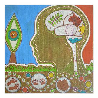 Vegan eye 5.25x5.25 square paper invitation card