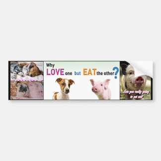 vegan factory farming bumper sticker