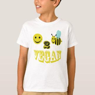 vegan. feliz de 2 abejas playera