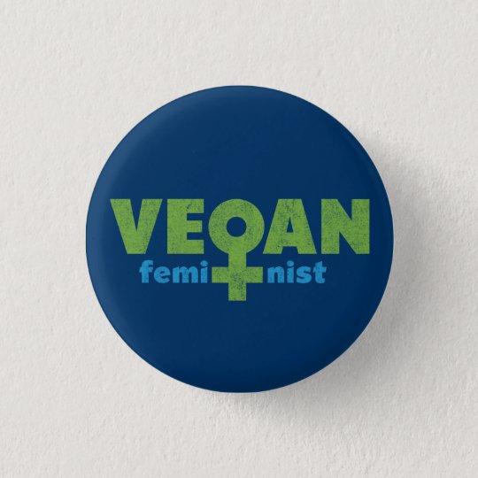 Vegan Feminist Button