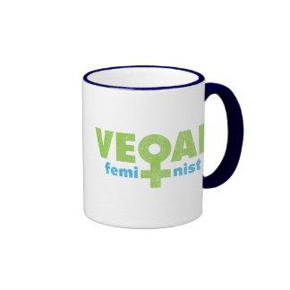 Vegan Feminist Ringer Mug