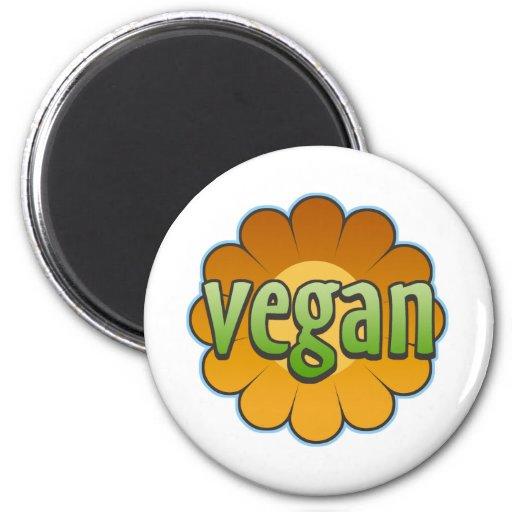 Vegan Flower Magnet Refrigerator Magnet
