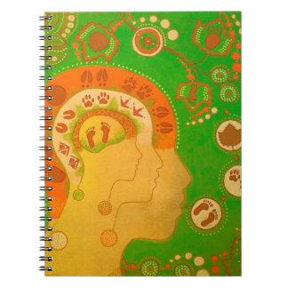 Vegan footprint connection spiral notebook