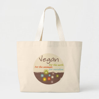 Vegan for a Reason Apparel and Gifts Large Tote Bag