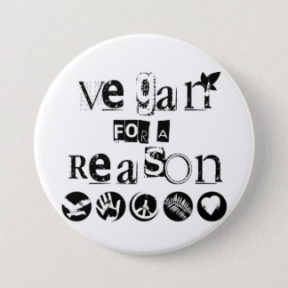 Vegan for a Reason Badge Button