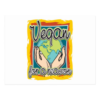 Vegan for a Reason Postcard