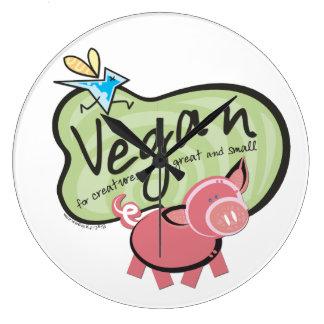 Vegan for all Creatures Large Clock