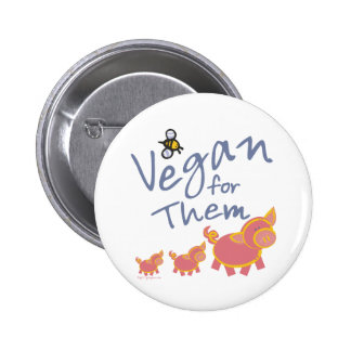 Vegan for Animals Pinback Button