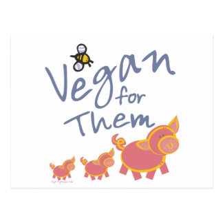 Vegan for Animals Postcard