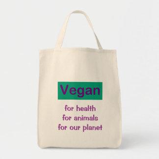 Vegan: For Health, Animals & Planet Tote Bag