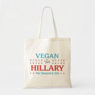 Vegan for Hillary Tote Bag