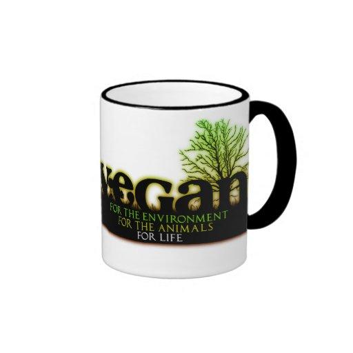 Vegan For Life Ringer Coffee Mug