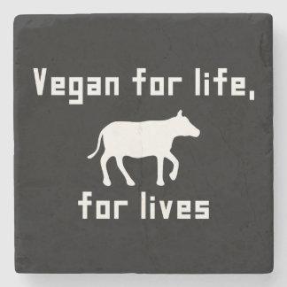 Vegan for life stone coaster