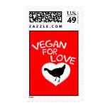 Vegan for Love Postage Stamps