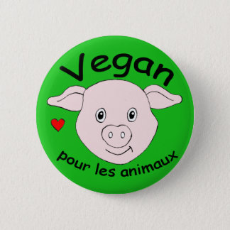 vegan for the animals button