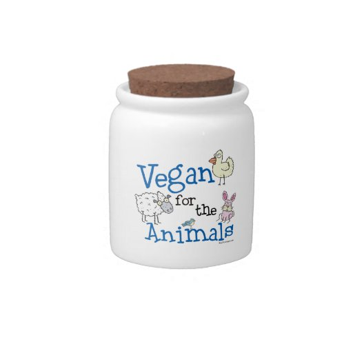 Vegan for the Animals Candy Dish