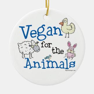 Vegan for the Animals Ceramic Ornament