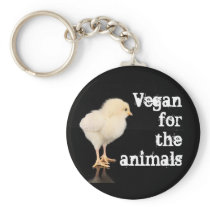 Vegan for the animals - Chick Keychain