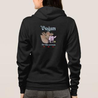Vegan for the animals hoodie