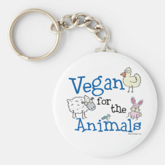 Vegan for the Animals Keychain