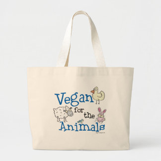 Vegan for the Animals Large Tote Bag