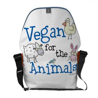 Vegan for the Animals Messenger Bag