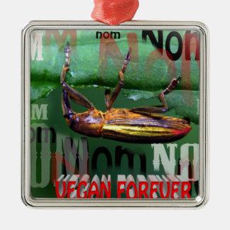vegan forever Silver-Colored square decoration