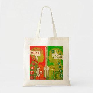 Vegan fork tote bag